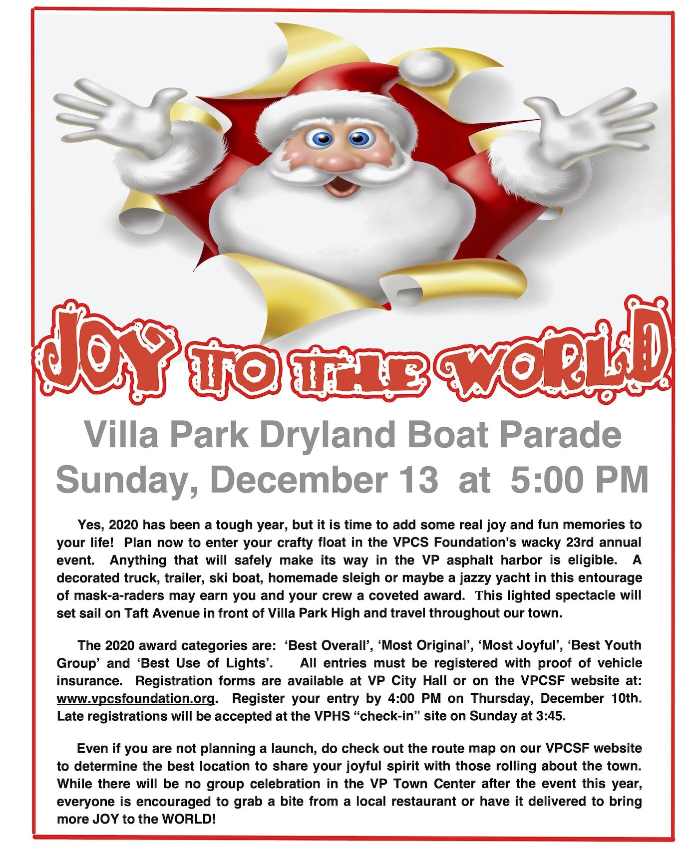 Where Can We Park For The Christmas Boat Parade 2020 City of Villa Park, California | Official Website